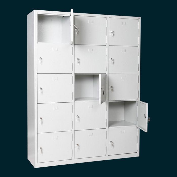 Метален шкаф за багаж с 15 отделения - шкафчета