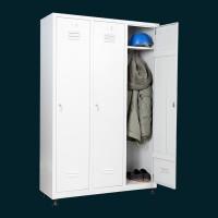 Шкаф за съблекалня за дрехи 3 души с 3 отделения
