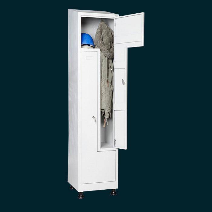 Тесен шкаф за съблекалня за двама души